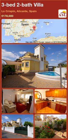 3-bed 2-bath Villa in Lo Crispin, Alicante, Spain ►€178,000 #PropertyForSaleInSpain