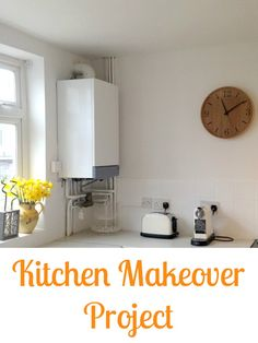 My kitchen transformation project is now completed. We went for a bright white and fresh paint on the tiles, walls and gloss with lots of wood and glass and the occasional zing of colour. Love my new kitchen makeover
