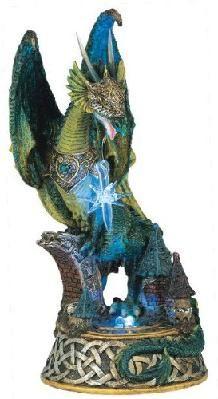 GSC Dragon w/Lighting LED Crystal Ball Collectible Figurine Statue Model Dragon Light, Green Dragon, Fantasy Dragon, Dragon Art, When Is My Birthday, Fairy Tree, Dragon Figurines, Small Sculptures, Figure Model