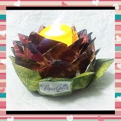 #flordeloto #vela #origami