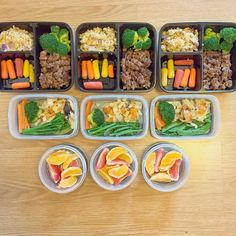 A three day meal prep prepared in less than half an hour by @dannysfitfood  Meal 1:       * Lean ground beef with lots of everything spices.      * Spicy, cauliflower rice with red onion and yellow tomatoes, broccoli       and baby rainbow carrots.  Meal 2:       * Baked cod with lemon and garlic and mixed veggies      * Red grapefruit and navel orange segments.