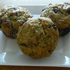 Oatmeal Chocolate Chip and Zucchini Muffins on BigOven: