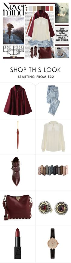 """""""""""A dame that knows the ropes isn't likely to get tied up."""" Mae West"""" by aurora93 ❤ liked on Polyvore featuring Wrap, Alexander McQueen, Temperley London, Valentino, Urban Decay, David Yurman, NARS Cosmetics and Barbour"""