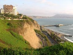 Downtown Lima .. great view. You can watch the surfers and people hang gliding.