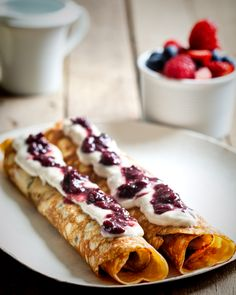 Healing Foods : Coconut Flour Crepes. With lots of information about the benefits of coconut flour and oil. Interesting. I use both - a lot - delicious.