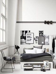 Relooking déco chambre en noir et blanc - CôtéMaison.fr