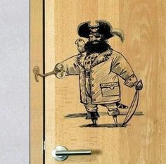 Funny pictures about Captain Hook Keeps Your Door Locked. Oh, and cool pics about Captain Hook Keeps Your Door Locked. Also, Captain Hook Keeps Your Door Locked photos. Door Hooks, Door Latch, Captain Hook, Pirate Door, Drawn Art, Funny Memes, Hilarious, It's Funny, Memes Humor