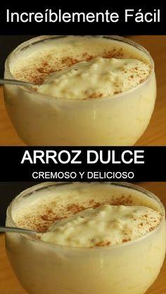 Rice Recipes, Mexican Food Recipes, Baking Recipes, Sweet Recipes, Spanish Dishes, Spanish Tapas, Spanish Food, No Bake Desserts, Dessert Recipes