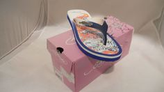 Ed Hardy Beach Sandals  size 7  Blue  New  SOLD!