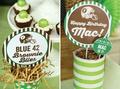 Football Themed 7th Birthday Party with Lots of Cute Ideas via Kara's Party Ideas | KarasPartyIdeas.com #SportsParty #SuperbowlParty #PartyI...