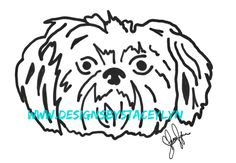 Shih Tzu decal design