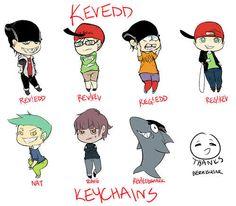 Kevedd keychains