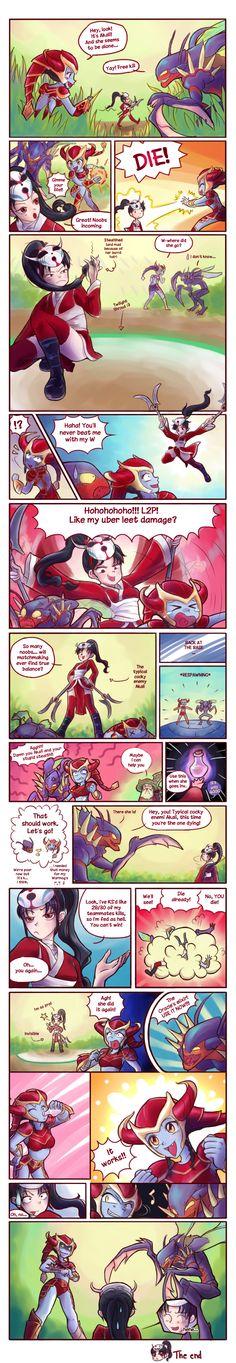 Those annoying fed Akalis by Musettethecat.deviantart.com on @deviantART -  shyvana, kha'zix, oracle's - league of legends