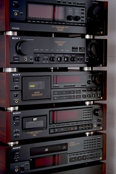 Sony ES system with Rosewood Panels | Classic ES with rosewo… | Flickr