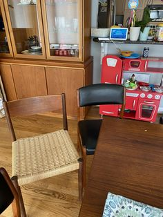 This is our dining room - I did the cording on the chair on the left which were passed down to us from a dear friend. Dear Friend, Liquor Cabinet, Dining Room, Chair, Storage, Birthday, Diy, Furniture, Home Decor