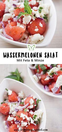 Wassermelonen Salat mit Feta und Minze recipes easy recipes easy recipes easy recipes easy easy appetizers easy on a budget Paleo Salad Recipes, Crockpot Recipes, Vegetarian Recipes, Healthy Recipes, Eggplant Dishes, Watermelon Recipes, Nutritious Meals, Summer Recipes, Vegetables