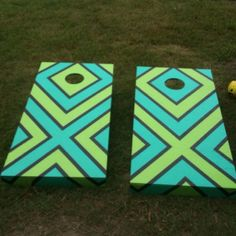 Love This Wave Painted Cornhole Board Girl With A