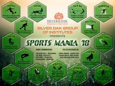 Break the pattern and kick in some energy for Sports Mania 2018 is finally here. Take a look at the poster below, pick your winning sport and contact the mentioned number to register. Pull up your socks and get ready to compete with all your co-students of Silver Oak Group of Institutes and set new records.  #SportsMania2018 #SOGI