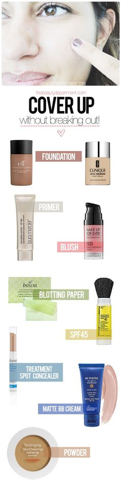 The Beauty Department: Your Daily Dose of Pretty. - MAKEUP FOR ACNE PRONE SKIN http://thebeautydepartment.com/2013/11/makeup-for-acne-prone-skin/