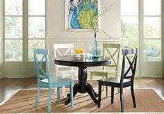 Brynwood White 5 Pc Pedestal Dining Room w/White Chairs - $388