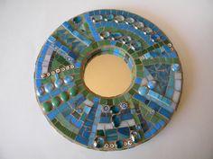 Heaven and Earth Round Abstract Mosaic Mirror - Original Art. $100.00, via Etsy.