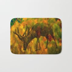 Camouflaged deer.  combination of a portion of an abstract autumn screen and a deer image.  great for the outdoorsman type.