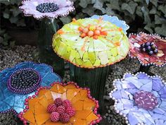 Love this!  Timmerman Daugherty's Weird Gardens  http://www.weirdgardens.com/