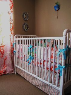 Bliss baby bedding includes bumper set crib by birdshaveflowers, $229.00