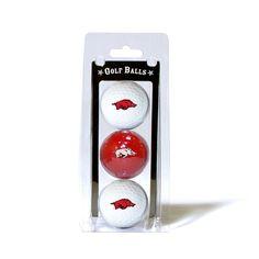 Arkansas Razorbacks 3 Ball Pack