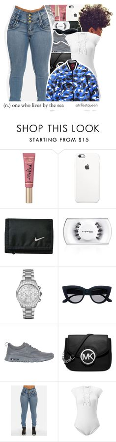 """""""11-20-2016."""" by trillestqueen ❤ liked on Polyvore featuring Too Faced Cosmetics, MAC Cosmetics, Michael Kors, NIKE and Miss Selfridge"""