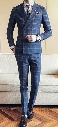 Men's Casual/Daily Plus Size Casual Winter Fall Suit