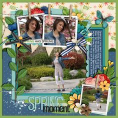 Spring Moment In Season - Spring by Kristin Cronin-Barrow Template from Triopack 16 - Clip It 2 by Cindy Schneider digital scrapbooking layout, mistyhilltops.com
