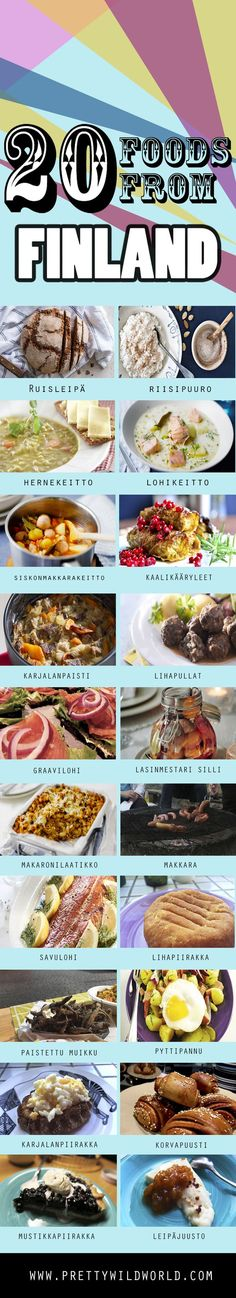 Finland Food: The 20 Different Traditional Finnish Food You Must Try Check out this list of 20 TRADITIONAL FOOD OF FINLAND and let me know which one you'd love to try if you visit this beautiful country – or pin this to read later! Finland Food, Finland Travel, Helsinki, Nordic Diet, Finnish Language, Finnish Recipes, Scandinavian Food, International Recipes, Foodie Travel