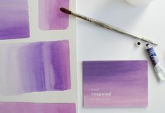 Awesome inspiration for business cards using watercolor washes