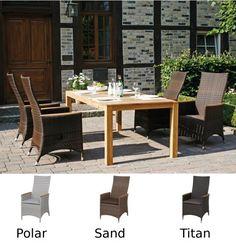 Inspirational SIENA GARDEN Gartenm bel Set Move Plus Positionssessel sand inklusive Gartentisch aus Teakholz
