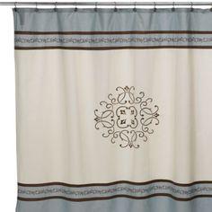 Hotel Collection Landon Fabric Shower Curtain - BedBathandBeyond.com