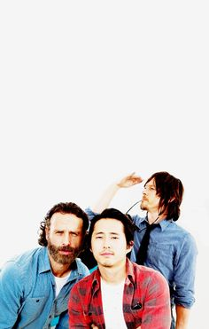 Andrew Lincoln, Steven Yeun, & Norman Reedus for TV Guide Magazine, SDCC '14