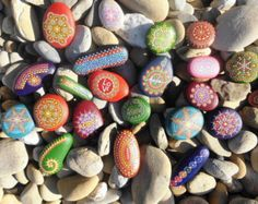 Dot painted inspirational Stones