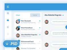 Chat dashboard PSD by Riko Sapto Dimo