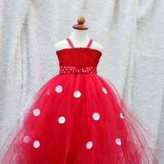 Minnie Mouse Inspired Red Tutu Dress by BloomsNBugs on Etsy, $70.00