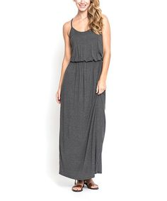 Another great find on #zulily! Charcoal Blouson Maxi Dress #zulilyfinds