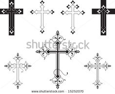 PATTERN CROSSES Clip Art: Cross Clip Art Vector Art File, Instant ...