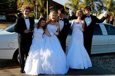 Deb Ball  Prom White dress  Friends