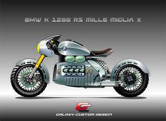 BMW K 1200 RS Mille Miglia X design sketch for Galaxy Custom by casyus