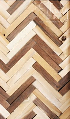 Herringbone Pattern Wall Art Using Wood Shims :: Hometalk @Katie Katie you know how i feel about chevron :)