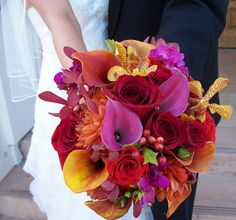 Flowers, Pink, Bouquet, Red, Orange, Colors, Premier productions
