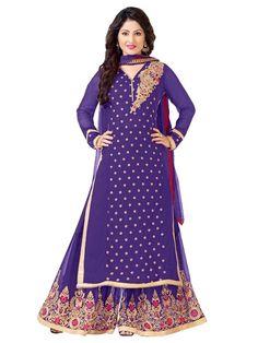 Faux Georgette Blue Salwar Suit - EBSFSKRB334048C