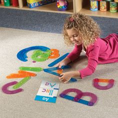 Learning Resources Letter Construction Activity Set. Love how big and colorful it is. Snap together the color-coded pieces.