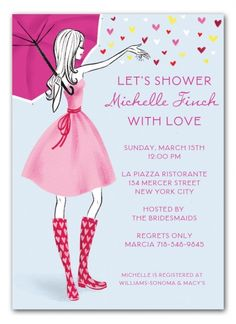 Stylish Bridal Shower Invitation