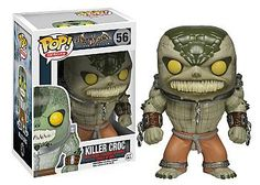 If you've played the Batman Arkham Asylum video game, you know Killer Croc is scary. How scary? Have your friend play the game when Batman is in Croc's Lair and place this not-so-cute Killer Croc Pop Batman Arkham Asylum, Killer Croc, Pop Vinyl Figures, Funko Pop Batman, Batman Batman, Batman Stuff, Spiderman, Pop Toys, Pop Heroes